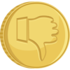 Thumbs Down Gold Coin Clip Art