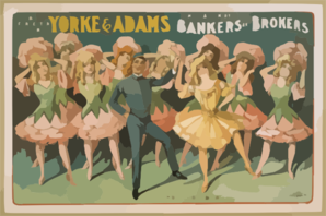 B.e. Forrester Presents Yorke & Adams In The Musical Comedy Success Bankers And Brokers By Aaron Hoffman Clip Art