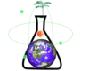 Flask Holding Earth Clip Art