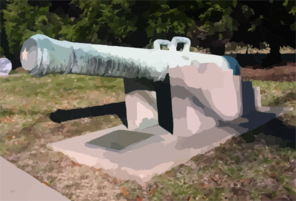 The First Historical Artifact Collected And Displayed By The U.s. Navy Is A French Cannon Captured During The Quasi-war With France (1798-1801) Clip Art