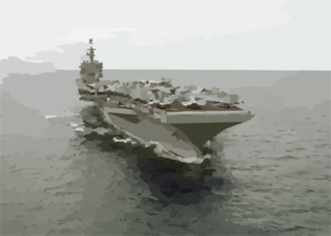 Uss George Washington (cvn 73) At Sea. Clip Art