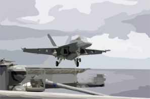 An F/a-18e Super Hornet From The Tophatters Of Strike Fighter Squadron Fourteen (vfa-14) Takes Off From One Of Four Steam Powered Catapults On The Flight Deck Of Uss Nimitz (cvn 68) Clip Art