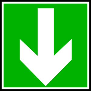 White Arrow - Down Clip Art