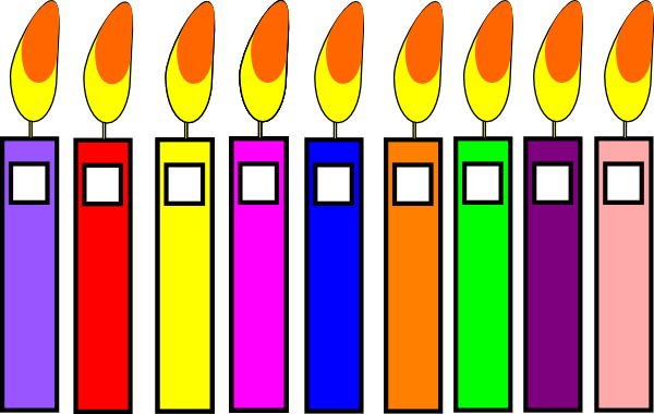 image relating to Birthday Candle Printable titled Birthday Candles Clip Artwork at - vector clip artwork