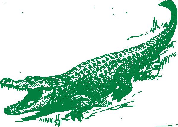 Green Alligator Clip Art at Clker.com vector clip art online ...