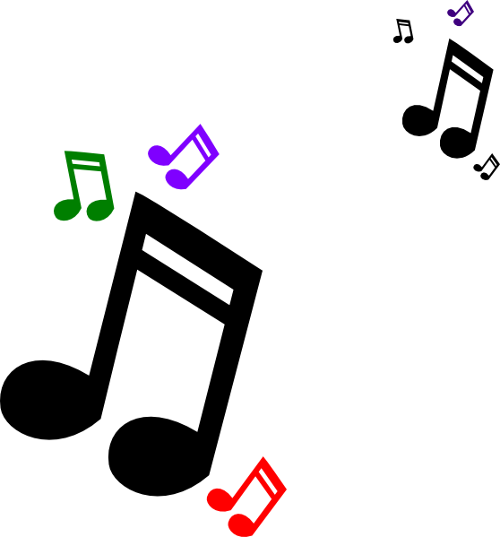 Colored Music Notes Clip Art at Clker.com - vector clip ...
