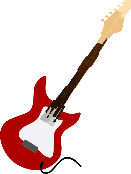 Electric Guitar Red Clip Art at Clker.com - vector clip ...