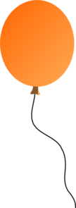 Orange Balloon Clip Art