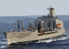 Usns Leroy Grumman (t-ao 195) Underway Following A Replenishment At Sea With The Aircraft Carrier Uss Harry S. Truman (cvn 75). Clip Art