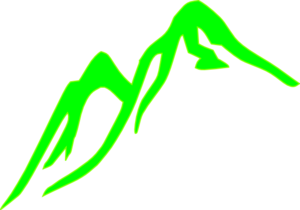 Mountain No Outline Green Clip Art