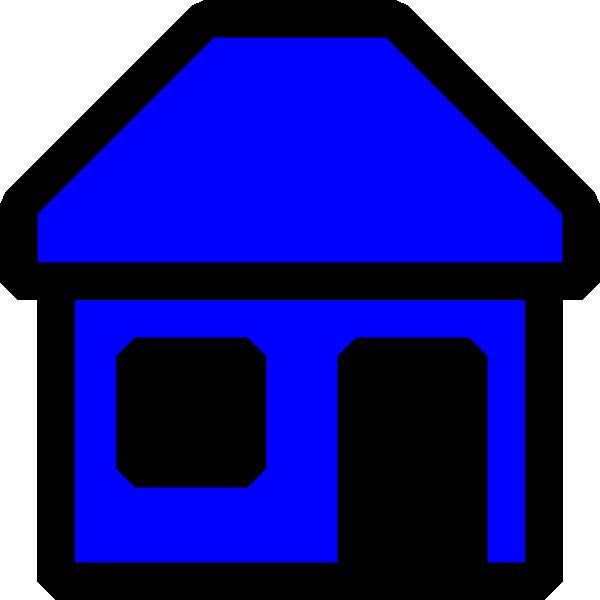 clip art blue house - photo #18