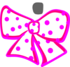 White Dotted Bow Clip Art