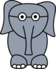 Elephant With Glasses Clip Art