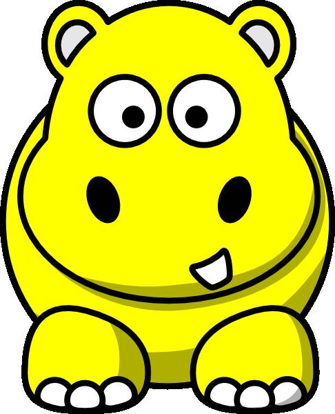Yellow Hippo Clip Art at Clker.com - vector clip art online, royalty ...