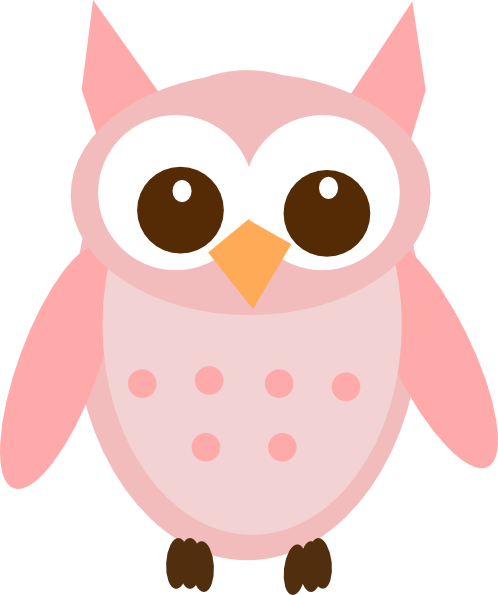 Pink Owl On Branch Clip Art at Clker.com vector clip art online ...