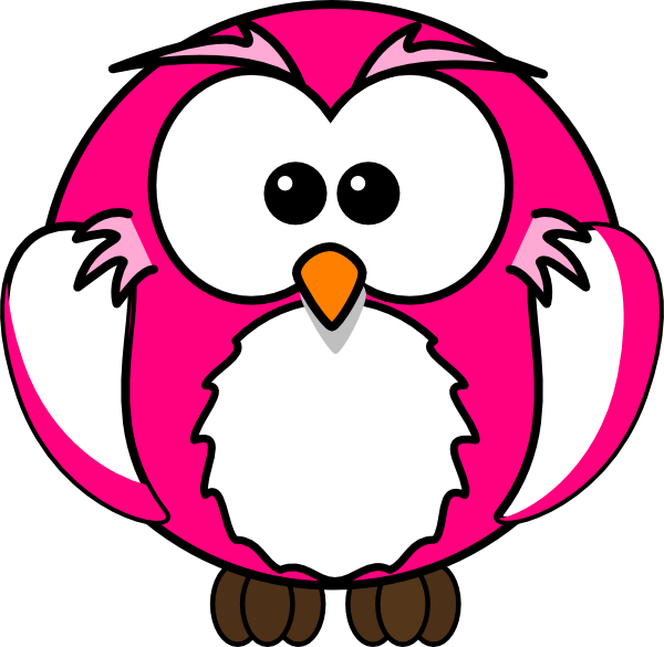 pink owl clip art at clker com vector clip art online royalty rh clker com pink and grey owl clip art pink and blue owl clip art