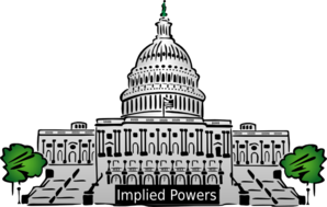 Congress Implied Powers Label Clip Art