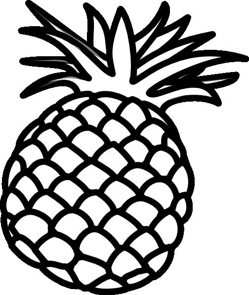Pineapple Outline Clip Art at Clker.com - vector clip art online ...