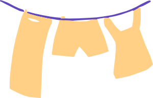 Laundry Hanging 2 Clip Art