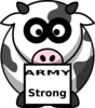 Cow With Box Army Strong Clip Art