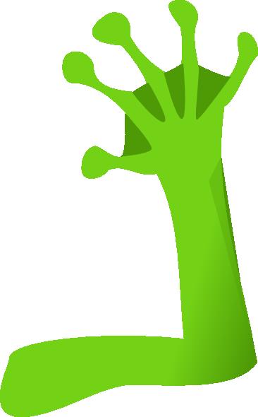 Frog Green Right Arm Clip Art at Clker.com - vector clip ...