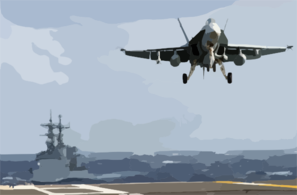 Hornet From Strike Fighter Squadron One Nine Five (vfa 195) Assigned To Carrier Air Wing Five (cvw 5) Clip Art