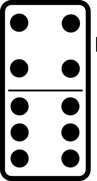 Domino with 9 Clip Art
