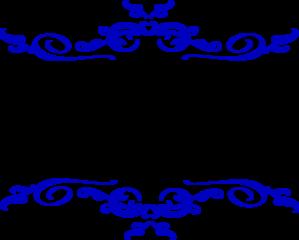 Swirl Blue Wedding Clip Art