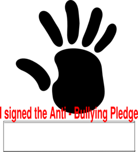 Anti Bullying Pledge Clip Art
