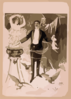 [magician Holding Rabbit And Conjuring Spirit Surrounded By Demon And Owls] Clip Art