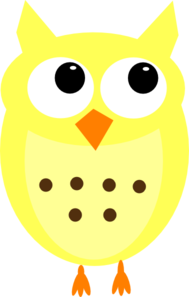 Yellow Owl No Branch Clip Art