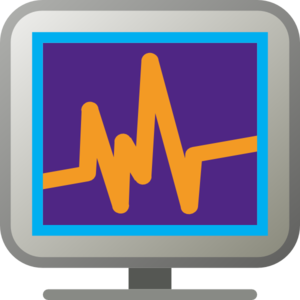 Monitoring Vibrant Colours Clip Art