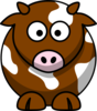 Brown Patch Cow Clip Art