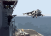 He Air Boss Watches As The Last Av-8b  Harrier  From Helicopter Medium Squadron Two Six Six  (hmm-266) Lands On Boarduss Nassau Following A Strike Mission Into Kosovo. Clip Art