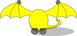 Yellow Pterodactyl Head Only Clip Art