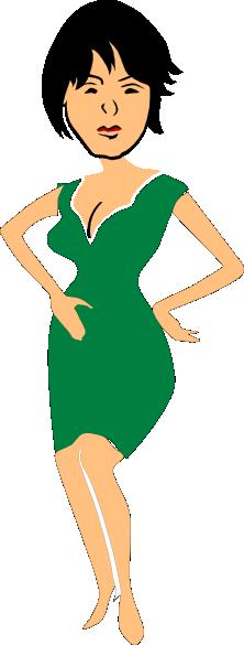 Woman Black Hair Clip Art at Clker.com - vector clip art ...