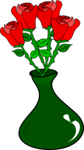 Free Hand Roses Clip Art