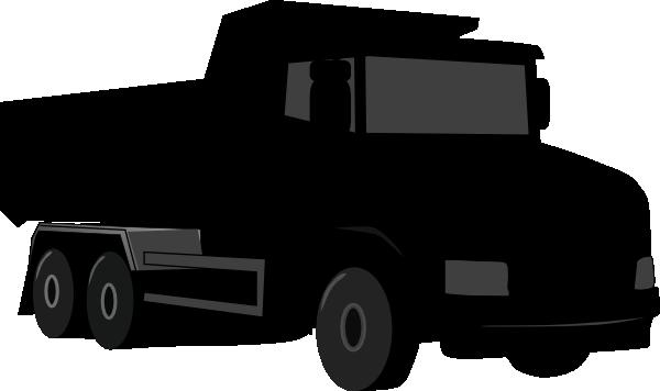 Black Gray Dump Truck 3 Clip Art at Clker.com - vector ...