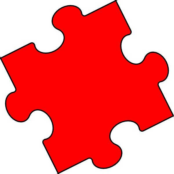 Red Puzzle Piece - Small Clip Art at Clker.com - vector ...