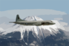 A P-3c  Orion  Assigned To The  Golden Eagles  Of Patrol Squadron Nine (vp-9) Circles Mt. Fuji.  Vp-9 Is Forward Deployed To Misawa, Japan. Clip Art