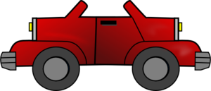 Two-way Red Jeep Clip Art