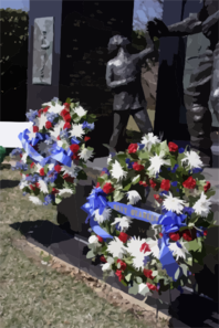 Active Duty, Reserve And Veteran Seabees Assembled At Arlington National Cemetery To Lay A Commemorative Wreaths At The Seabee Memorial. Clip Art