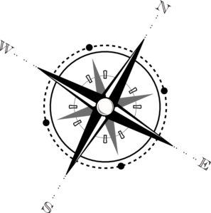 Black And White Compass Clip Art