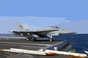 F/a-18 Hornet Makes A Catapult Launch From Uss Kitty Hawk. Clip Art