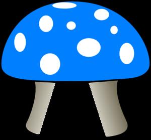 blue mushroom clip art at clker com vector clip art online rh clker com mushroom clipart png mushroom clip art free