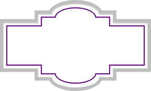 Box Label - Silver Purple Clip Art