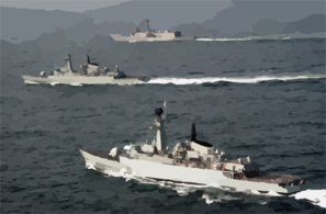 Uss Rueben James Along With Pakistan Navy Ship (pns) Shahjahan And Pns Tippi Sultan Are Currently Participating In Exercise Inspired Siren 2002. Clip Art