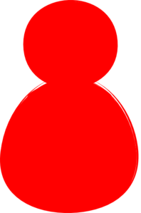 Red Alone Clip Art