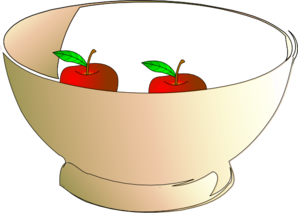 Bowl 2 Apples Clip Art