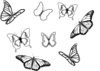 Eight Butterflies Clip Art